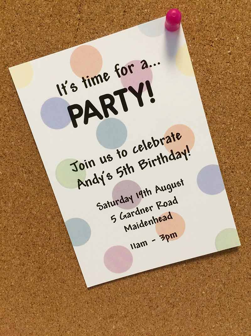 Create cool birthday invitations for kids avery weprint andys kids personalised party invitation filmwisefo Choice Image