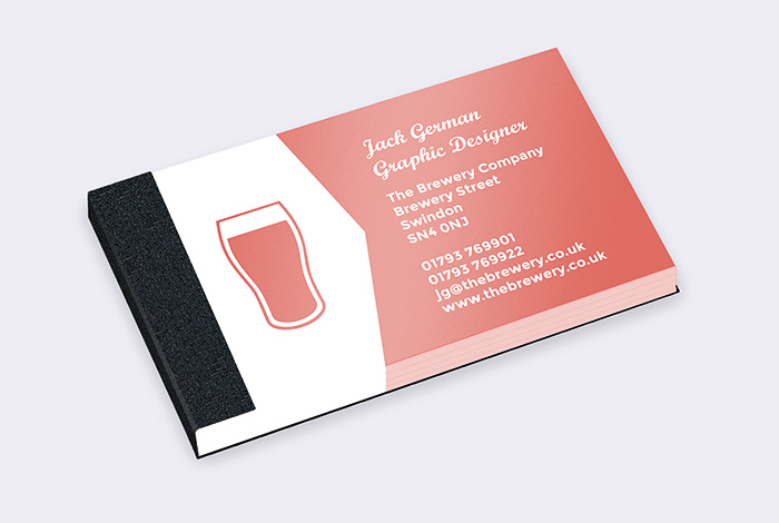 Standard Single Sided Business Card Pad