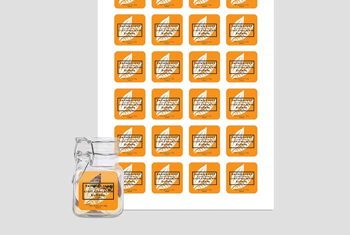 Clear PP Labels Square 37 x 37mm Gloss Finish