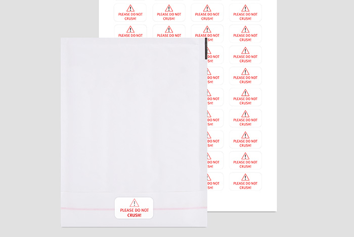 White PP Labels Rectangle 38.1 x 21.2mm Label Gloss Finish