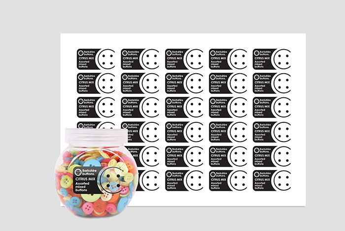 Clear PP Labels Rectangle 45.7 x 25.4mm Gloss Finish