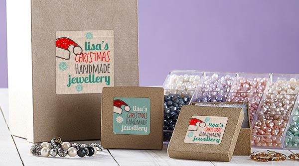 Christmas jewellery labels